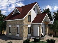 Проект дома 7 на 7 с крыльцом