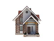 Дом из кирпича 7 на 7 с крыльцом