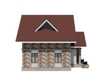 Дом 7 на 7 с крыльцом из пеноблоков