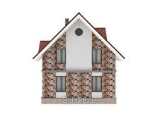 Дом 7 на 7 из газобетона с крыльцом