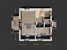 Дом 7 на 7 из газобетона