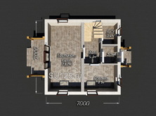 Дом из кирпича 7 на 7
