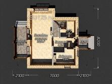Дом 7 на 8 с террасой из пеноблоков