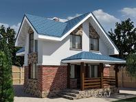 Дом из кирпича 7 на 8 с террасой