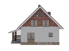 Проект дома 8 на 8 с крыльцом