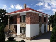 Дом из кирпича 8 на 10 с террасой