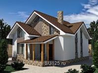 Проект дома 9 на 10 с крыльцом