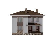 Проект дома 10 на 10 с крыльцом