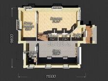 Проект дома 10 на 11 с крыльцом