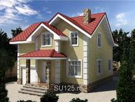 Дом из кирпича 10 на 11 с крыльцом
