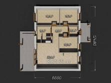 Дом из пеноблоков 12,5 на 9