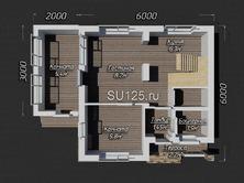 Проект дома 6 на 8
