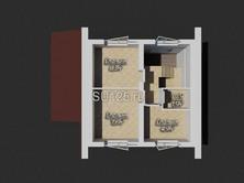 Дом из газобетона 6 на 6 с террасой