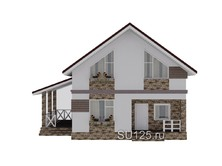 Проект дома 6 на 6 с террасой