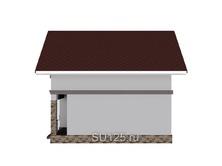 Дом 6 на 6 с террасой из кирпича