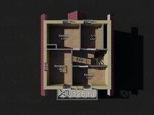 Дом 6 на 6 из пеноблоков